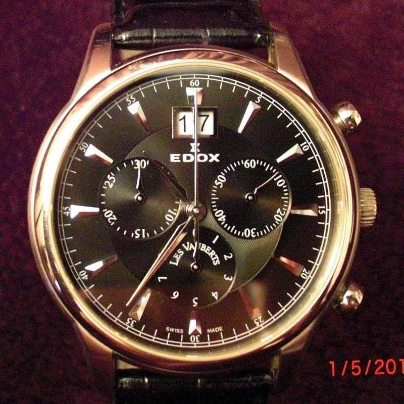 Продам швейцарские часы EDOX (кварцевый хронограф) модель 10005-3NIN. . Отличное сост. (часы носились как