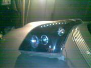 продам тюнинговые фары черные и решетку Тойота-Прадо 120