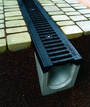 Системы водоотвода,  водостоки,  бетонные желоба