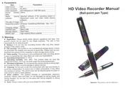 Ручка со встроеной фото-видеокамерой