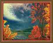 Продам картину маслом Осень,  река