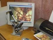 Продам новый микроскоп ЮННАТ 2П-3 Видео с видеокамерой