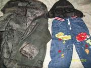 Дубленка,  шапка,  джинсы теплые
