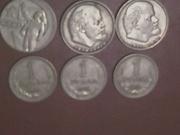 Советские рубли металлические