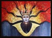 Картина  Венецианская маска СОЛНЦЕ