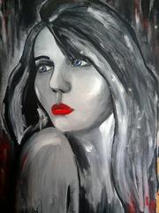 Картина Портрет девушки в стиле хай-тек.