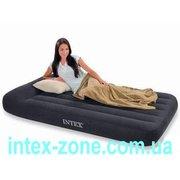 Удобная односпальная надувная кровать Intex 66768