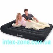Удобная двуспальная надувная кровать 66770 Intex Pillow-Rest Classic B