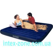 Матрас надувной велюровый 68755 Intex двуспальный