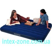 Матрас надувной велюровый 68759 Intex полуторный