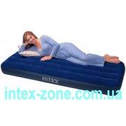 Матрас надувной велюровый 68950 Intex односпальный