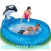 Детский бассейн Веселая касатка с фонтанчиком 57436