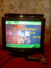 Продам комплект Телевизор + DVD Караоке + кабель + микрофон + диск кар