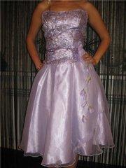 Красивое нарядное платье светло-сиреневого цвета