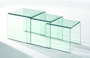 Стол стеклянный журнальный Валенсия