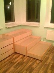 Детская кровать трансформер пенал трёхъярусная в Днепропетровске