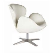 Кресло СВ,  поворотное, классика дизайна,  цвет белый или черный