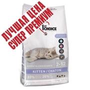 1st Choice с курицей сухой супер премиум корм для котят