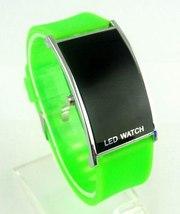 Чaсы наручные зеленые LED