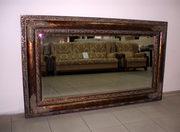 Антикварное зеркало прямоугольное
