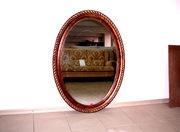 Антикварное зеркало овальное