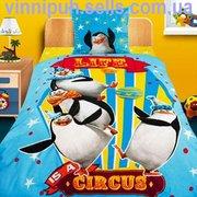 Продаем детское постельное белье  Мадагаскар - пано Пингвины ТМ Непосе