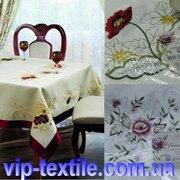 Продаем скатерть на стол с вышивкой 150х180 см ТМ Романтика
