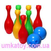 Предлагаем к продаже - Детская напольная игра Кегельбан Кегли с мишкам