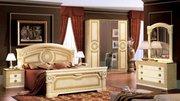 Итальянская спальня Aida цвета Черный с золотом.Черный с серебром.Белы