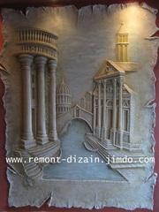 Барельеф (лепное панно),  орнамент,  художественная роспись Кривой Рог