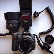 Продам Nikon D5000 18-55 + 50mm 1.4 + sb600