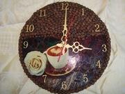 Часы с зёрнами кофе