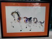 Картина,  Лошадь с жеребенком,  акварель