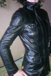Натуральный кожаный куртка/пиджак
