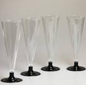 Пластиковые  бокальчики для шампанского