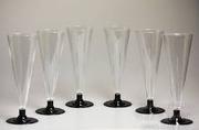 Прозрачные пластиковые  бокальчики для шампанского