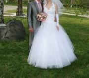 Продам свадебное платье очень дешево- 1000грн.