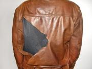 Ремонт кожаной куртки.