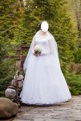 Красивое свадебное платье на высокую девушку (180-185 см)
