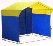 Палатка торговая 3*2 синяя желтая