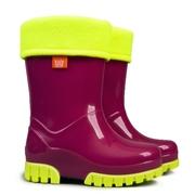 Twister lux print fluo B  (Резиновые сапоги для детей. Демар)