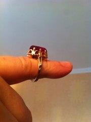 золотой перстень женский