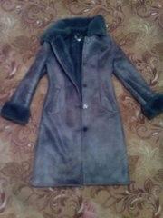 Зимнее пальто-дубленка!идеальное состояние