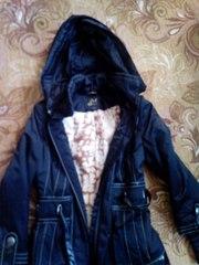 Демисезонное куртка-пальто!размер s