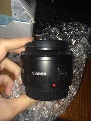 Новый объектив Canon 50 mm 1.8 USM + УФ фильтр за 560 грн в подарок