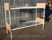 Кровать металличееская двухъярусная со спинками ЛДСП