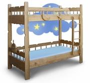 Двухъярусная кровать из ясеня «Врунгель»