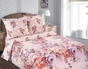 Купить ткани для постельного белья в розницу,  Поплин Карамельная роза
