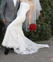 Свадебное платье (гипюр расшитый бисером)