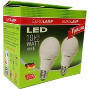 Светодиодный Led НАБОР Eurolamp A60 10W E27 (акция 1+1)